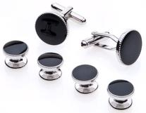 Cufflinks and Studs Set for Tuxedo - Formal Black with Shiny