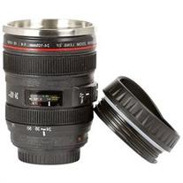 Camera Lens Cup Coffee Travel Mug Thermos Stainless Steel,