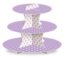 LolliZ® Cupcake Stand, Lavender/Polka Dots, Paper. 1 Pc
