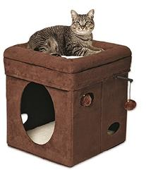 "MidWest ""The Original"" Curious Cat Cube, Cat House / Cat"