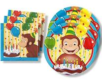 Curious George Birthday Party Supplies Set Large Plates &