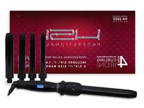 "HSI PROFESSIONAL CURLING IRON SET. 4 BARREL SIZES 3/4"",1"",1."