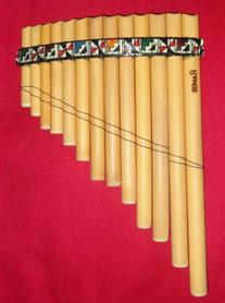 Professional Medium Curved Pan Flute Antara with 13 Pipes