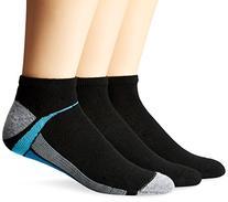 Men's Cushion Low Cut Black Socks, 6-12-Black,6pack