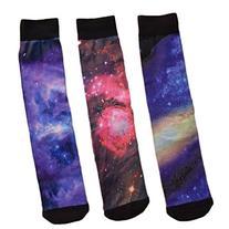Brand New Cusom Full Color Galaxy Calf-Length Socks with