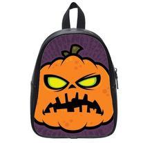 Custom Fashion Childrens Backpacks Happy Halloween Pumpkin