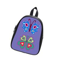 Custom Fashion Childrens Backpacks Colorful Butterfly PU