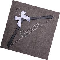 Custom Groom Personalized Bride Wedding Hangers-Custom