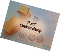 "Custom Stamp 1""x1"" Handmade. Photopolymer Stamp. Custom"