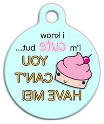 Dog Tag Art Custom Pet ID Tag for Dogs - Cute as a Cupcake