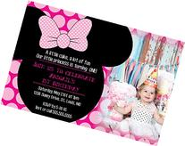 Customized - Minnie Mouse Birthday Party Invitation - With