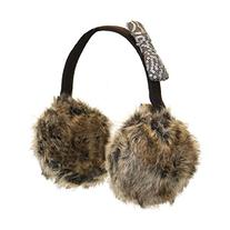 Cute Brown Large Furry Earmuffs Attached to Winter Headband
