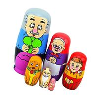 EVINIS Cute Lovely Grandpa and Carrot Family Nesting Dolls
