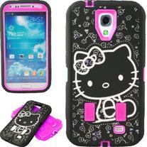 New Cute Hot Pink & Black Hello Kitty Hybrid Case for