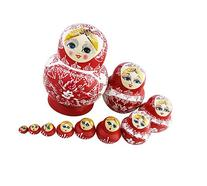 10PCS Cutie Lovely Red and white porcelain Nesting Dolls