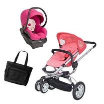 Quinny CV155BFXKT2 Buzz 3 Travel System in Pink Blush with