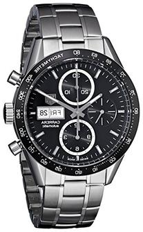 Tag Heuer Men's  'Carrera' Black Dial Stainless Steel