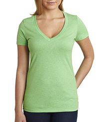 Next Level Apparel 6640 CVC Deep V-Neck Tee - Apple Green,
