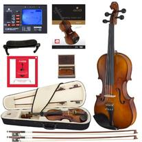 Cecilio CVN-320L Solidwood Ebony Fitted Left-Handed Violin