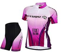 Sponeed Women's Cycle Jersey Bike Clothing Gel Padded