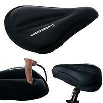 WOWOWO® Exercise Bike Gel Seat Cover Durable Soft Black