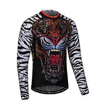 Boom Cycling Mens Breathable Long Sleeve Cycling Jersey