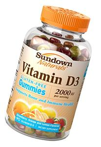 Sundown Naturals Vitamin D3 2000 IU, 90 Gummies