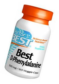 Doctor's Best Best D-phenylalanine , Vegetable Capsules, 60-