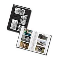 Pioneer DA300COL Sewn Embossed Leatherette Bound Album with Collage Frame Cover, Holds 300 4 x 6 inch Photos 3 up, Black
