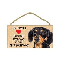 1 X Dachshund   Door Sign 5''x10