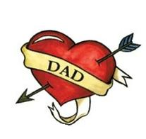 Dad Heart Temporaray Tattoo