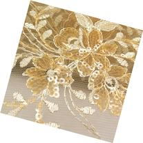 Dahlia Sequin Net Lace Gold 60 inch Fabric by the Yard