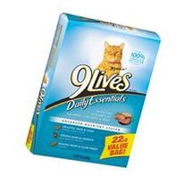 9Lives Daily Essentials Cat Food, with Flavors of Salmon,