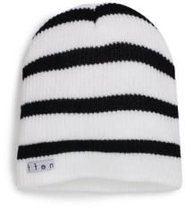 neff Men's Daily Stripe Beanie, White/Black, One Size