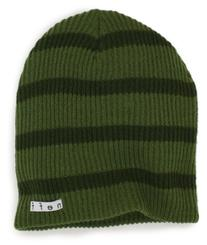 neff Men's Daily Stripe Beanie, Olive/Green, One Size