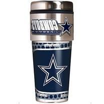 Dallas Cowboys Travel Tumbler w/ Metallic Graphics and Team