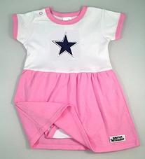 Dallas Baby Onesie Dress - Pink