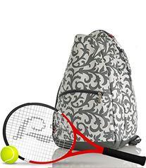 NGIL Damask Print Tennis Backpack