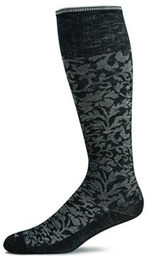 Sockwell Women's Damask Socks, Black, Small/Medium