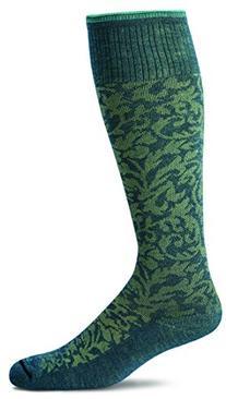 Sockwell Women's Damask Socks, Teal, Medium/Large