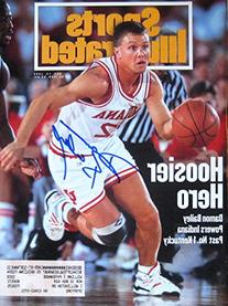 Damon Bailey autographed Sports Illustrated Magazine 12/13/