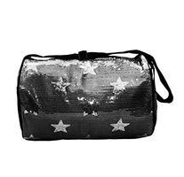 Girls Nylon Dance Duffle Bag w/ Sequin Stars