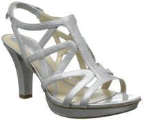 Naturalizer Women's Danya Platform Sandal,Black Glitter,8 W