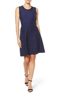 Women's T Tahari Daphine Jacquard Fit & Flare Dress, Size