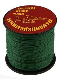 Dark Green super strong PE braided fishing line