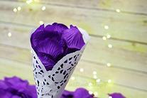 Quasimoon Dark Purple Silk Rose Petals Confetti for Weddings