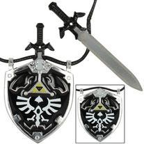 Dark Shade Master Sword & Shield Necklace