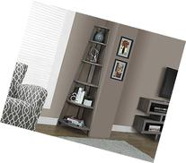 Monarch Specialties Dark Taupe Reclaimed-Look Corner Accent