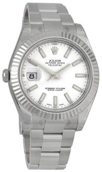 Rolex Datejust II White Dial 18k White Gold Stainless Steel