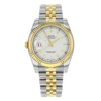 Rolex Datejust White Index Dial Jubilee Bracelet Fluted